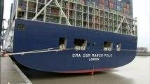 Le Marco Polo, le plus grand porte-conteneurs au monde