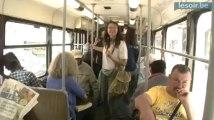 Opération anniversaire du Soir dans le tram 92