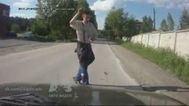 Road Rage / Traffic Accidents -  drunk russian - no accident.
