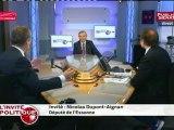 Nicolas Dupont-Aignan : « C'est la même politique [que celle de Nicolas Sarkozy] en pire dans la mesure où il ne s'occupe même pas du soutien aux entreprises. »