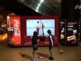 Distributeur de Coca-Cola pour danser en Corée