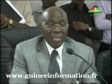 Kerfalla Yansané, ministre des Finances, et Mohamed Diaré, ministre délégué au Budget font le point sur l'IPPTE