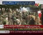 Telangana march: Tension at Osmania University