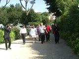 Tennis: Boris Becker in campo a Roma