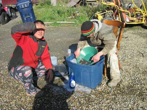 Chercheur d'or à Nome Alaska
