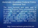 Australian Federal Police - Uninstall Australian Federal Police