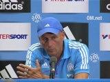Conférence de presse Olympique de Marseille - Paris Saint-Germain : Elie BAUP (OM) - Carlo ANCELOTTI (PSG) - saison 2012/2013