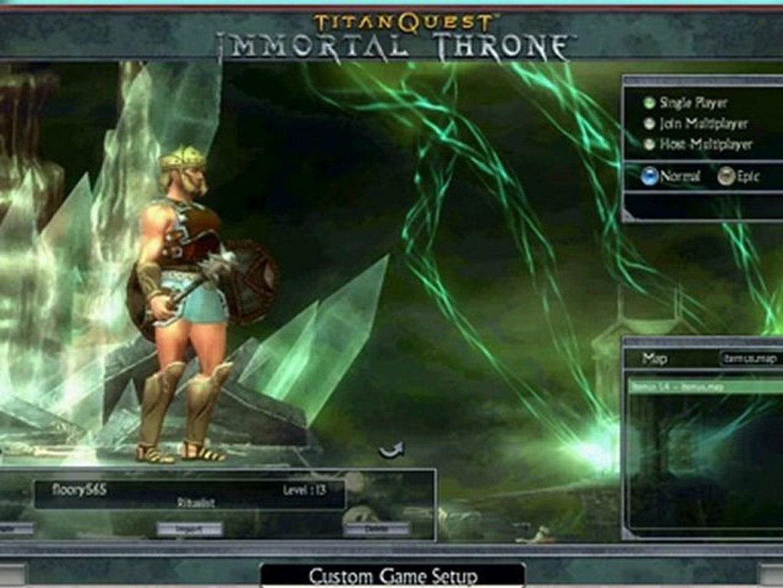 Titan Quest Immortal Throne All Item Cheat