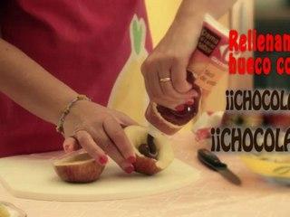 Recetas fiestas infantiles manzana terrorifica (Halloween)