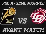 Avant-Match - J02 - Réception de Cholet