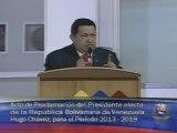 10-10-12 Chavez acreditacio Caracas, miércoles 10 de octubre de 2012, El CNE proclamó a Hugo Chávez Frías como Primer Mandatario para el período 2013-2019. El titular de Miraflores anunció la designación de Nicolás Maduro como nuevo Vicepresidente Ejecuti