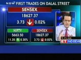 Nifty opens in green, Sensex down by 3 points
