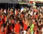 Fleurs d'Agde Ondines Teorix Flashmob cap d'agde 2012