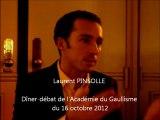 Laurent Pinsolle - réponse à la salle 1 - dîner-débat de l'Académie du Gaullisme du 16 oct 2012.
