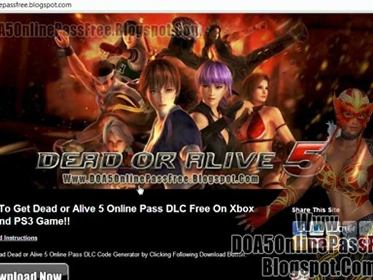 How To Get Dead Or Alive 5 Online Pass Leaked Codes Free Video