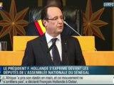 """Hollande à Dakar : """"Le temps de la Françafrique est révolu"""""""