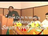 N N Murthy speaks & pays tribute to Vivekananda on National Youth Day