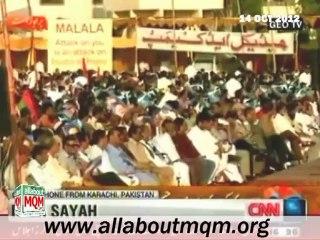 Haq Parast Karachi Public gave support to Malala (CNN report) 14th October 2012