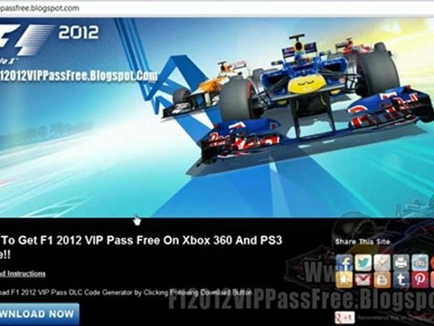 F1 2012 VIP Pass Code Unlock Tutorial - Xbox 360 - PS3