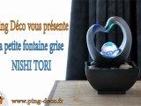 Fontaine d'intérieur grise Nishi Tori (disponible sur www.ping-deco.fr)