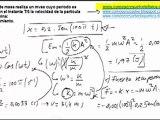 Fisica movimiento oscilatorio calcular la energía mecánica