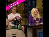 Will Ferrell crashes Chelsea Lately in a golf cart