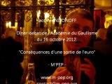 Jacques Nikonoff - réponse à la salle 4 - Les marchés financiers ? - dîner-débat de l'Académie du Gaullisme du 16 oct 2012.