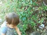 je cueille les fleurs du jardin