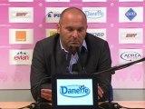 Conférence de presse Evian TG FC - Toulouse FC : Pascal DUPRAZ (ETG) - Alain  CASANOVA (TFC) - saison 2012/2013