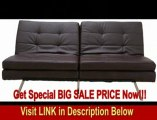 BEST PRICE Gold Sparrow Memphis Dark Brown Double Cushion Futon Sofa Bed