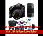Sony Alpha A65 SLT-A65VK A65VK SLTA65 24.3 MP Translucent Mirror Digital SLR With 18-55mm, 75-300 Sony Lenses BUNDLE with 16GB Card, Spare Battery, 57 in 1 Card Reader, 3 Piece Filter Kit, Deluxe Case, LCD Screen Protectors, Lens Cleaning Kit
