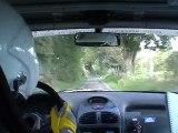 rallye des boucles de seine 2012 es 4 condé sur risle 206 xs a6k fleury nicolas / lemire nicolas