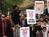 Demonstration Against MQM 10-DOWNING STREET LONDON 30/09/12. HABIB JAN SPEECH