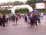 """Plus de 400 élèves ont participé à la manifestation """"St-Jacques - Le Viguier en courant"""" ce mardi matin à Carcassonne."""