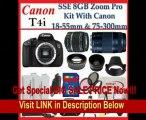 Canon EOS Rebel T4i Digital 18 MP CMOS SLR Cameras -650D with Canon EF-S 18-55mm f/3.5-5.6 IS Lens & Canon EF 75-300mm f/4-5.6 III Telephoto Zoom Lens, SSE Premium SLR Lens Accessory Package