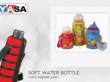Water Bottles, Kids Water Bottle, Soft Touch Water Bottles, Water Bottle with Bag by Nayasa Housewares