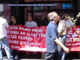 Continua La Protesta Dei Lavoratori Del teatro Stabile Di Ct - News D1 Television TV
