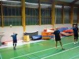 Olympiades Rennes Atalante 2012 - Entraînements de SII Ouest - Badminton & Volley