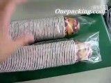 Plastic glasses Packaging Machine in horizontal Flow wrapper