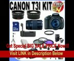 Canon EOS Rebel T3i 18 MP CMOS Digital SLR Camera and DIGIC 4 Imaging with EF-S 18-55mm f/3.5-5.6 IS Lens & Canon 75-300 Lens + 58mm 2x Telephoto lens + 58mm Wide Angle Lens (4 Lens Kit!!!!!!) W/32GB SDHC Memory+ Battery Grip + 2 Extra Batteries + Ch