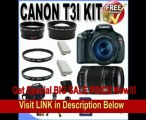 Canon EOS Rebel T3i 18 MP CMOS Digital SLR Camera and DIGIC 4 Imaging with EF-S 18-55mm f/3.5-5.6 IS Lens & Canon 55-250IS Lens + 58mm 2x Telephoto lens + 58mm Wide Angle Lens (4 Lens Kit!!!) W/16GB SDHC Memory+ 2 Extra Batteries + 2 UV Filters + Cas