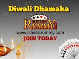 Play 13 Cards Rummy Games with Diwali Dhamaka at Classicrummy