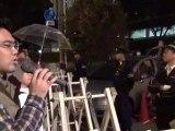 20121023 天満警察署 転び公妨 大阪府警の冤罪自白強要 抗議行動