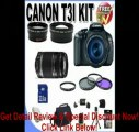 Canon EOS Rebel T3i 18 MP CMOS Digital SLR Camera and DIGIC 4 Imaging with EF-S 18-55mm f/3.5-5.6 IS Lens & Canon 75-300 f/4-5.6 III Lens + 58mm 2x Telephoto lens + 58mm Wide Angle Lens (4 Lens Kit!!!!!!) W/32GB SDHC Memory+ Extra Battery + Charger +
