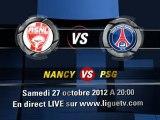 Nancy PSG Streaming live Nancy vs PSG direct streaming  27 octobre 2012
