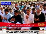 MQM Leaders Offered Eid Prayers in Jinnah Ground, Sacrifice Animal of MQM Quaid Altaf Hussain at Ninezero