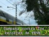 Campaña contra recortes de FEVE en Asturias