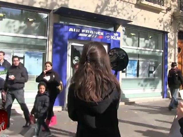 Rassemblement anti vivisection devant l'agence Air France du Jardin du Luxembourg (27.10.2012)