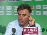 Conférence de presse AS Saint-Etienne - Stade Rennais FC : Christophe  GALTIER (ASSE) - Frédéric  ANTONETTI (SRFC) - saison 2012/2013