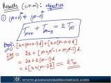 Arithematic Progression - Sum of Arithmetic Progression
